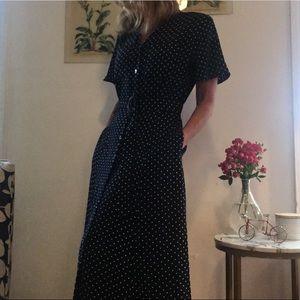 Liz Claiborne Dresses - Liz Claiborne Button Front Vintage Midi Dress